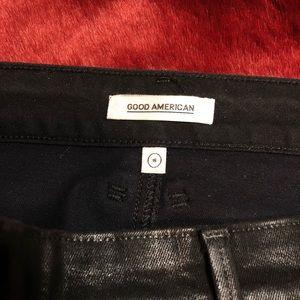 Good American Skirts - Black Good American Waxed Mini skirt